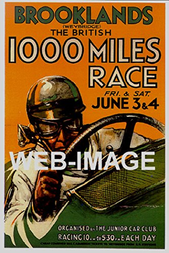 F1 Grand Prix Card - OnlyClassics 1936 BROOKLANDS BRITISH AUTO RACING GRAND PRIX F1 11X17 POSTER INTENSE RACER INDY CAR