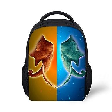 3d5784e7e210 NAYINLAN Kids Girls Boys 12 INCH 3D Cool Elephant Animal Print School  Backpack Book Bag