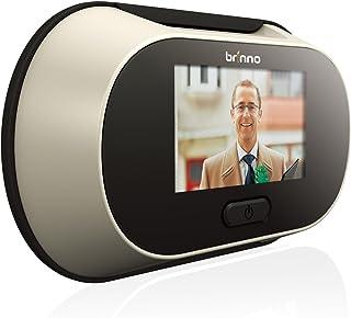 Brinno PeepHole Viewer Spioncino Digitale per Porte con Monitor Interno da 2.5', Nero/Grigio