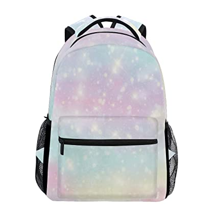 e6e8eb40c7e7 Amazon.com: Shining Rainbow Clouds Backdrop Large Backpack Travel ...