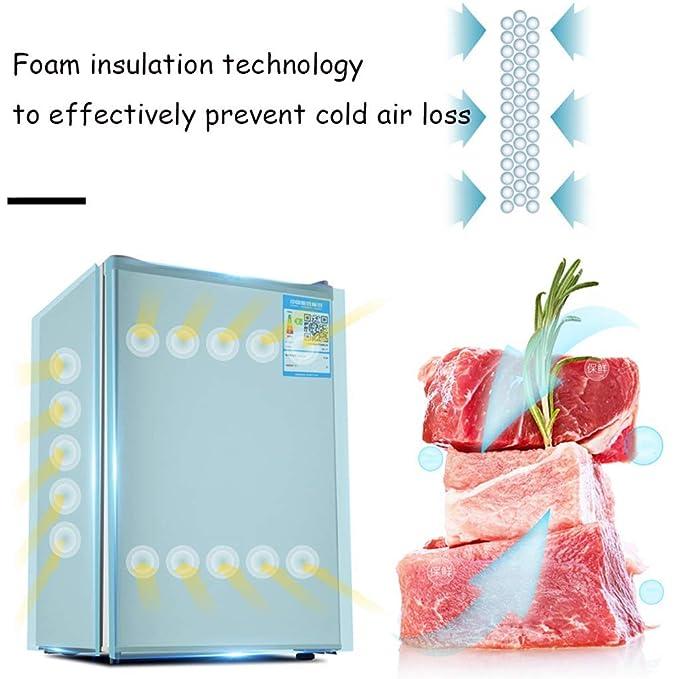 QCYSK Mini-refrigerador 71L Nevera bajo mostrador con ...
