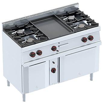 macfrin 33016 G13 Gas parrilla de cocina, Serie 5, 1200 mm ...