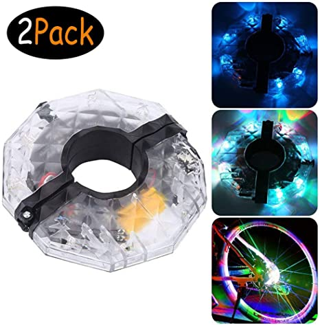 LED Luces para Rueda de Bicicletas Impermeables-4 colores USB ...