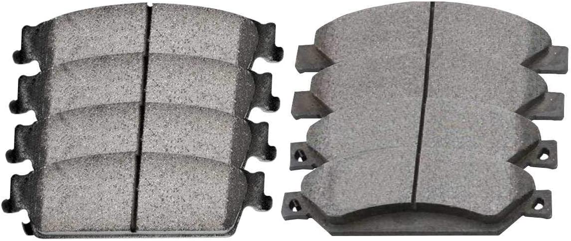 AutoShack SCD1192-1194 Front and Rear Ceramic Brake Pads 2 Pieces Fits Driver and Passenger Side