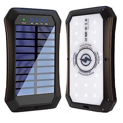 Amazon.com: Banco de energía solar, cargador portátil ...