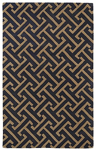 Hand Tufted Charcoal (Kaleen REV04-38-23 Revolution Collection Hand Tufted Area Rug, 2' x 3', Charcoal)