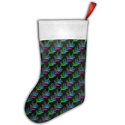 Punky Queen King corona calcetín medias de Navidad regalos de Navidad diseño de calcetines de Navidad