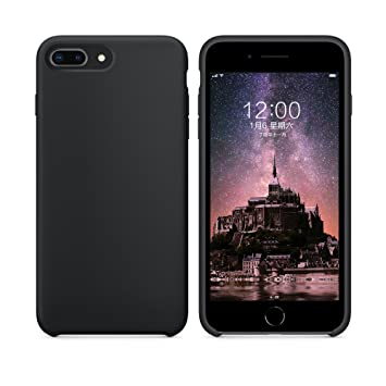 Funda iPhone 7 Plus Funda iPhone 8 Plus, SURPHY Carcasa Ultra Slim Fina Silicona Suave Case Bumper Full Protección Flexible Cover para iPhone 7 Plus ...