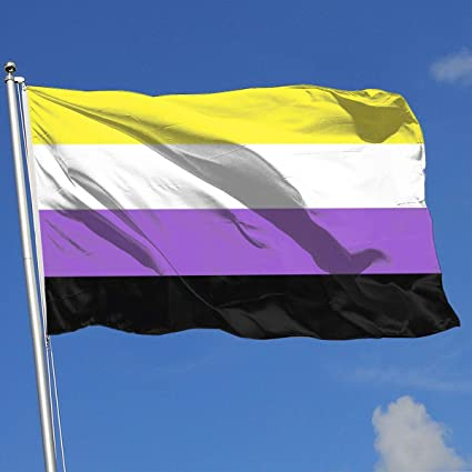 Amazon com : QZHUWAI Non-Binary Flag 3x5FT-100% Polyester