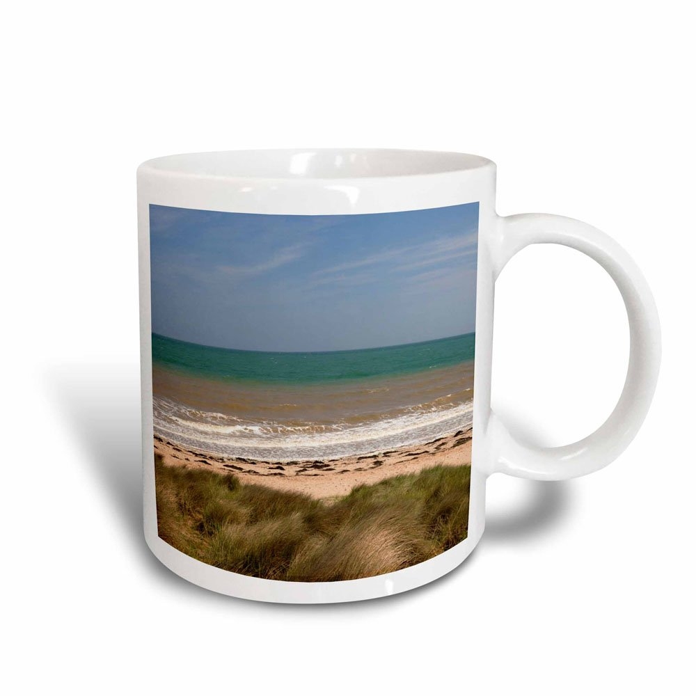 Normandy 3dRose 136882/_3France Juno Beach Site Of Wwii Mug 11 oz Black//White