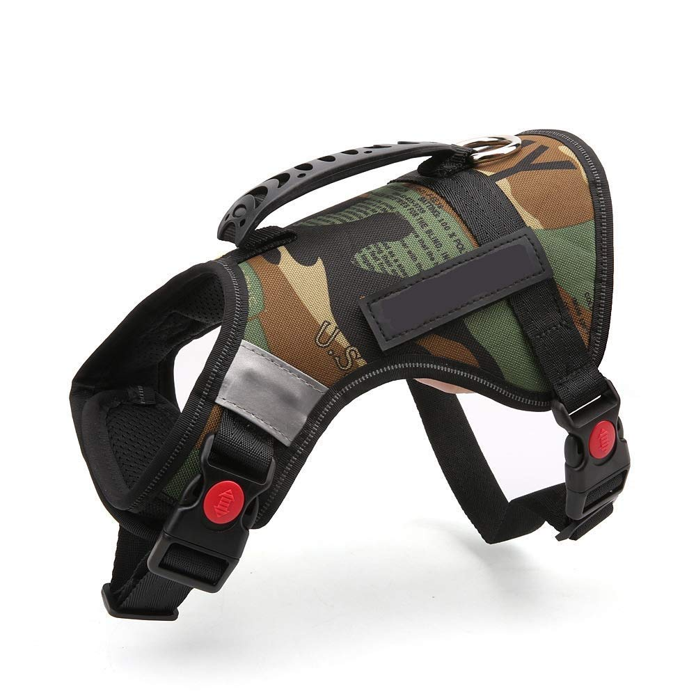 A SmallPISSV Pet Chest Strap Multistyle Adjustable Pet Antilight Beam Camouflage Dog Strap Suitable For Small Medium Dogs Easy To Control Night Walking Training Traction Rope Multisize Optional