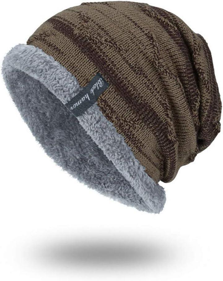 DDKK winter hats Winter Daily Beanie Stocking Hat Warm Polar Fleece Skull Cap for Men and Women Khaki//Black//Gray//Wine//Red//Navy