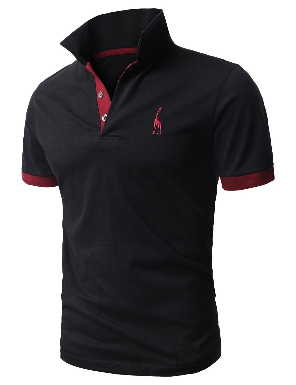 【H2H】 メンズ カジュアル ゴルフウェアー ファッション ベーシック 無地 スリームフィット ワンポイント 半袖 ポロシャツ B00CMLR7JC 4L|ブラック ブラック 4L