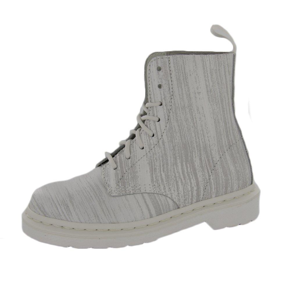 Dr. Martens Men's Pascal Fashion Boots, White Leather, 4 M UK, 5 M US