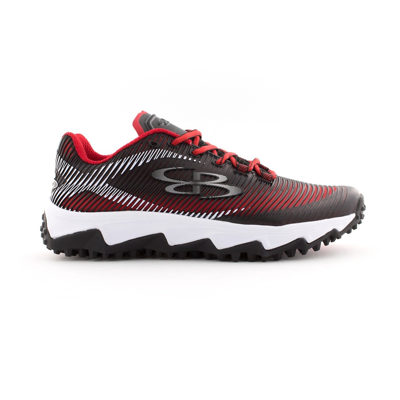 Boombah Men's Aftershock DPS Turf Shoes - 18 Color Options - Multiple Sizes B0767QMWTQ 8.5|Black/Red