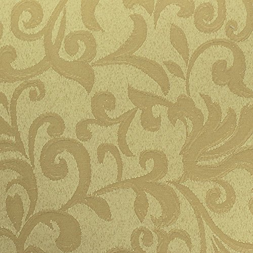 Ultimate Textile (10 Dozen) Somerset 17 x 17-Inch Damask Cloth Napkins- Jacquard Weave Scroll Design, Gold by Ultimate Textile (Image #2)