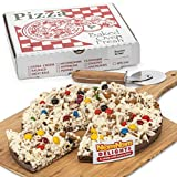 Grocery - Gourmet Chocolate Gift Box | Milk Chocolate Candy Pieces Chocolate Lovers Popcorn Pizza | Kosher Certified - By NomNom Delights