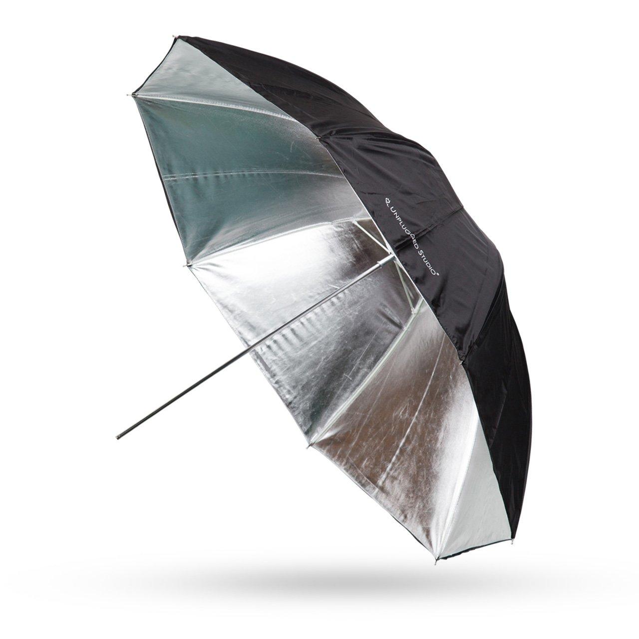 UNPLUGGED STUDIO 43inch Silver Umbrella (Fiberglass Rib) UN-033
