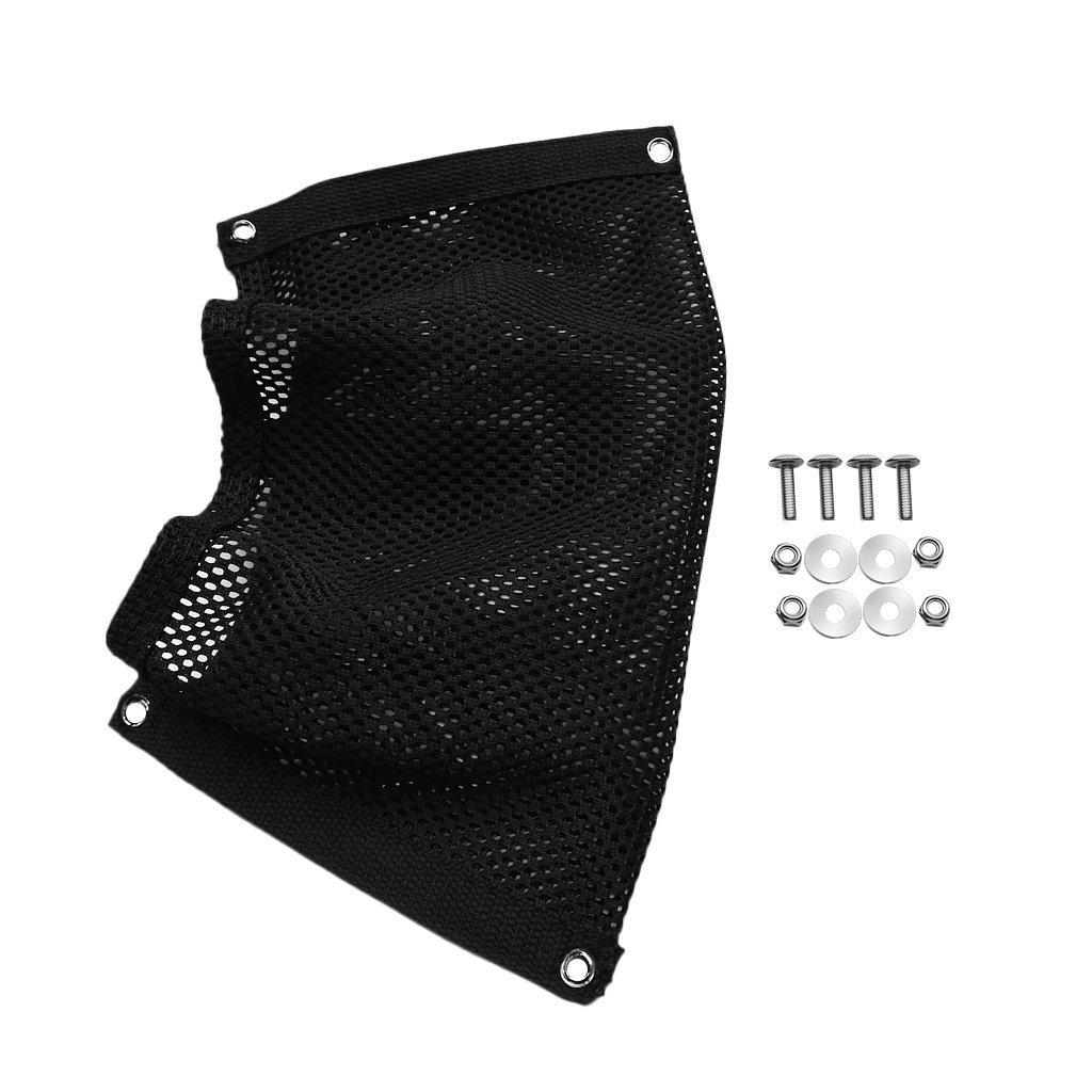 Yundxi Durable Black Nylon Marine Fishing Boat Mesh Beer Botle Gear Storage Pouch Bag Holder with Bolts Screws Washers