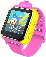 REDLEMON Smartwatch Bluetooth para Niños con Localizador GPS y Cámara de 2.0 MP, Resistente al Agua. Entrada para Chip SIM, Llamadas Bidireccionales y de Emergencia, Pantalla Touch, Perímetro de Seguridad, Batería Recargable de Larga Duración, Sistema Android. Kids Smart Watch. ROSA