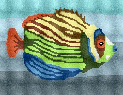 pepita Tropical Fish 3 Needlepoint Canvas
