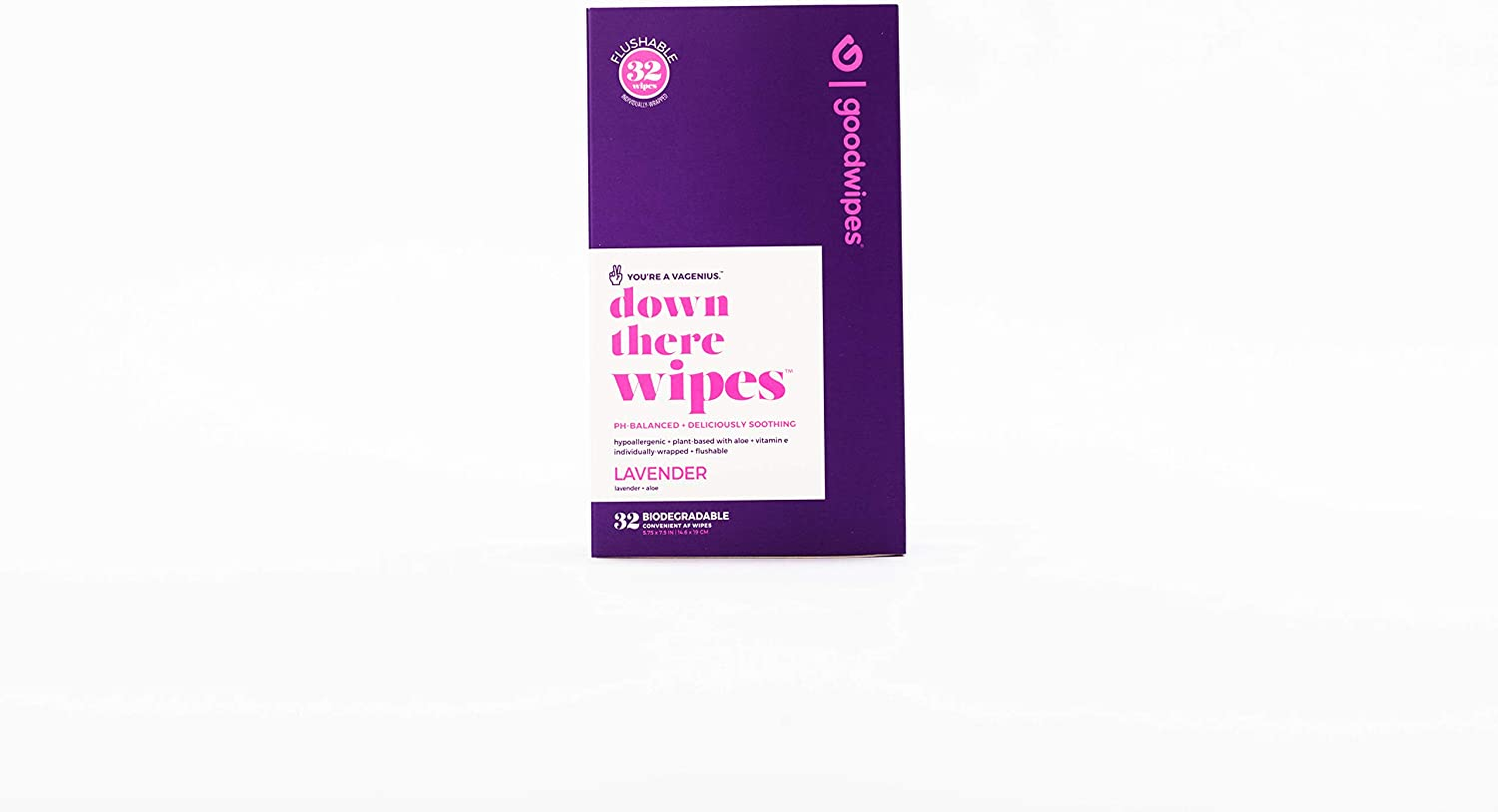 Goodwipes Wet Wipes, Lavender Scent, Flushable, PH Balanced and Hypoallergenic (32 Individual Count): Health & Personal Care