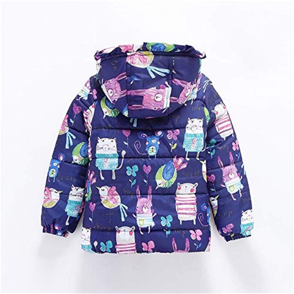 KAOKAOO Winter Kids Coat Baby Girl Boy Cartoon Print Hooded Coat Cloak Jacket