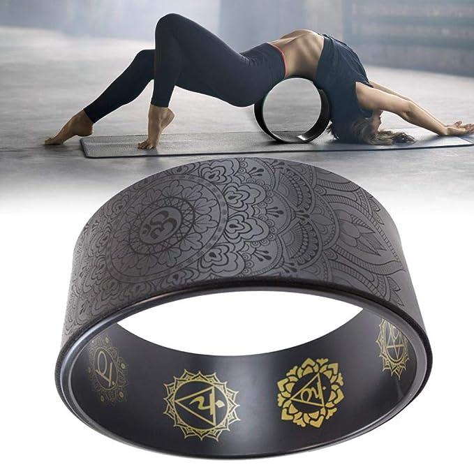 Rueda de yoga: la rueda de apoyo de yoga Dharma más fuerte y cómoda para posturas de yoga para estirar, aumentar la flexibilidad y mejorar las curvas ...