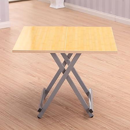 mesa plegable Ajustable Mesa Cuadrada de Madera Maciza/Mesa de ...