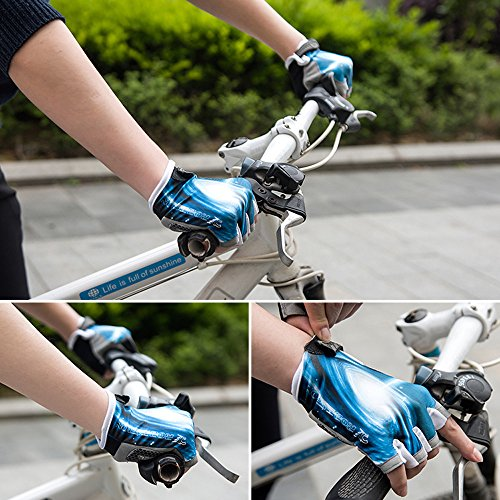 Ezyoutdoor Bike Full Finger Glove Riding Glove Breathable Unisex Reflex Outdoor Cycling Skiing Skateboard Shock Pads by ezyoutdoor (Image #6)