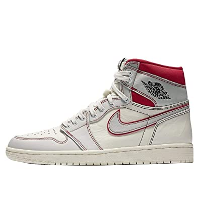 competitive price ac055 ea1b4 Amazon.com | Nike AIR Jordan 1 Retro HIGH OG SAIL/Black ...