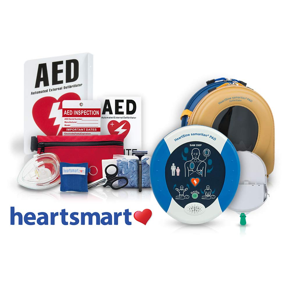 Heartsmart's Portable AED Defibrillator Package Heartsmart.com