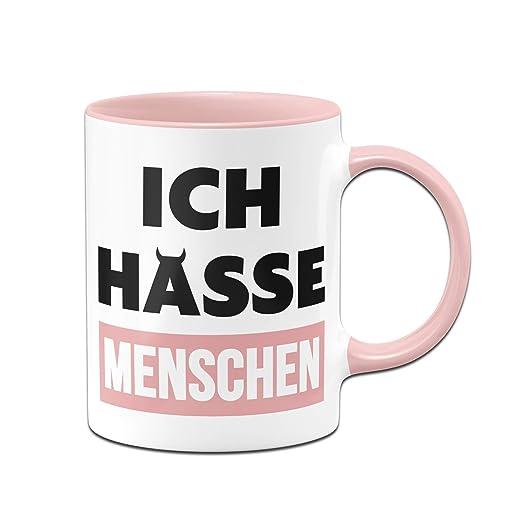 Tassenbrennerei Tasse Mit Spruch Ich Hasse Menschen Bürotasse