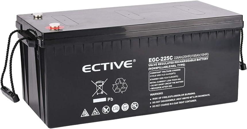 Ective 12v 225ah Gel Deep Cylce Batterie Extrem Zyklenfeste Solar Versorgungsbatterie Vrla In 6 Varianten Auto