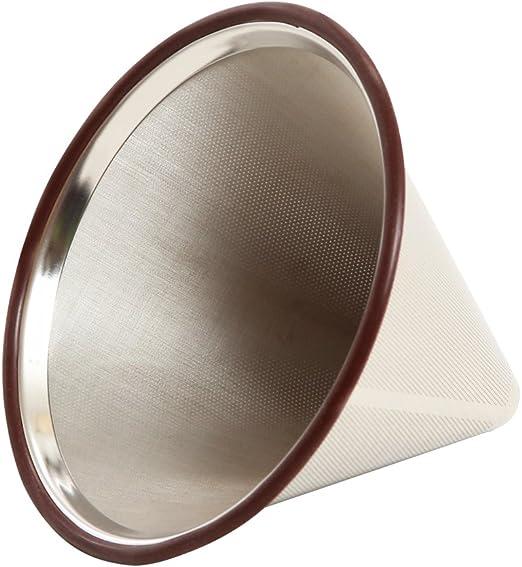 Vierta sobre cafetera filtro para Chemex – reutilizable – Cono de ...