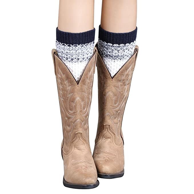 VJGOAL Mujer de moda casual Jacquard de punto Mantener el calor Cómodo Transpirable Calentadores de la pierna Calcetines Cubierta de la bota(Un tamaño, ...