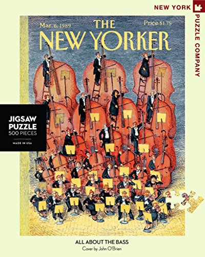 - New York Puzzle Company - New Yorker All About the Bass - 500 Piece Jigsaw Puzzle