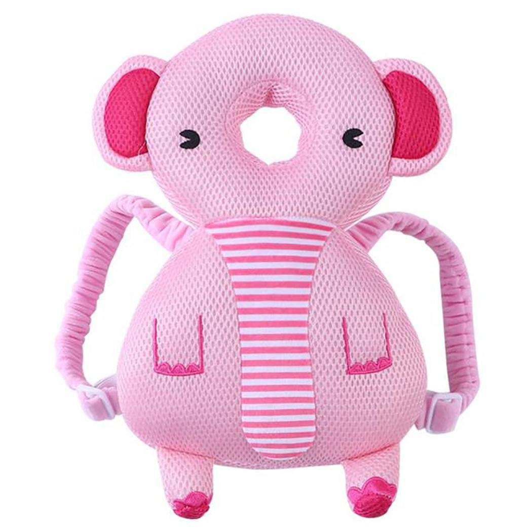 Tinffy Cute Baby Animal Head Protection Pillow, Elephant Type, 14.1 x 7 x 3.1inch