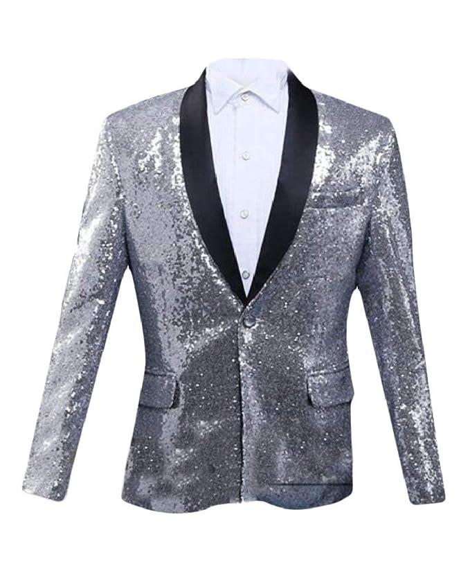BOLAWOO Blazer Uomo Cappotto Blazer Elegante da Tuxedo Slim Sposa Fit da  Mode di Marca Uomo Vintage in Paillettes Giacca Lunga Manica Lunga Giacca da  ... 8ad4e3796b3
