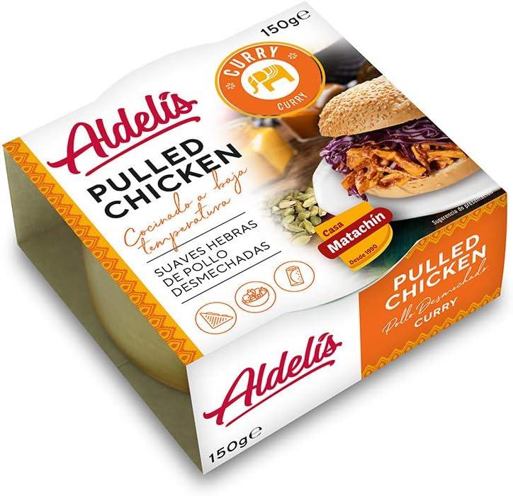 Aldelís Conserva Pollo Hebras Curry Pack 150 Gr 1 Unidad 150 g Pack de 12