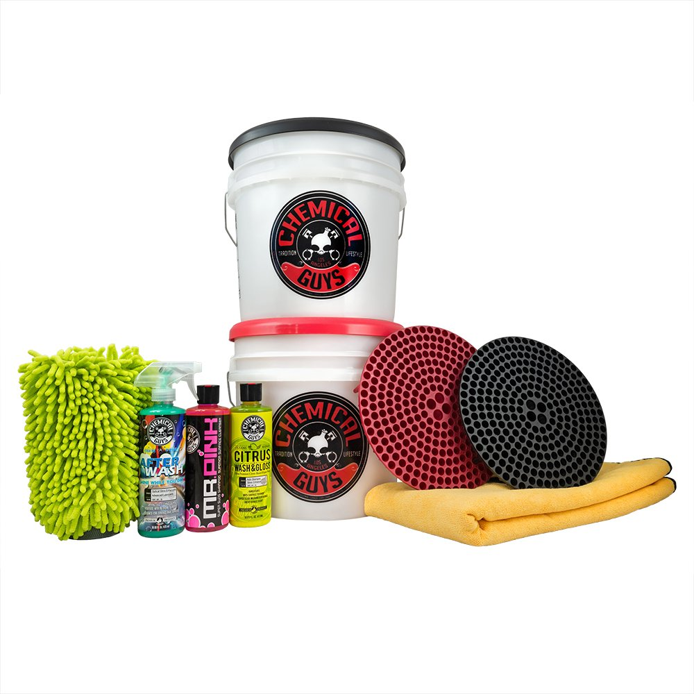 Amazon com chemical guys hol129 best two bucket wash and dry kit 11 items 16 fl oz 11 pack automotive