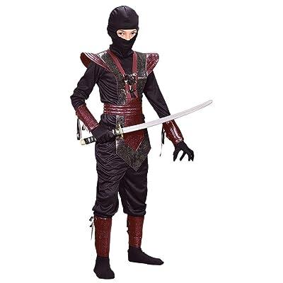 Leather Ninja Fighter Costume (Boy's Children's Costume): Toys & Games