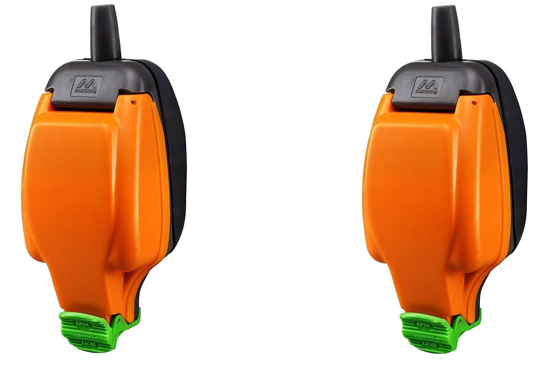 2 X IPS Rewirable Weatherproof in-Line Socket