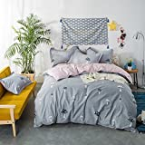 TheFit Paisley Textile Bedding for Young Adult W233 Field Mushroom Duvet Cover Set 100% Cotton, Queen Set, 4 Pieces