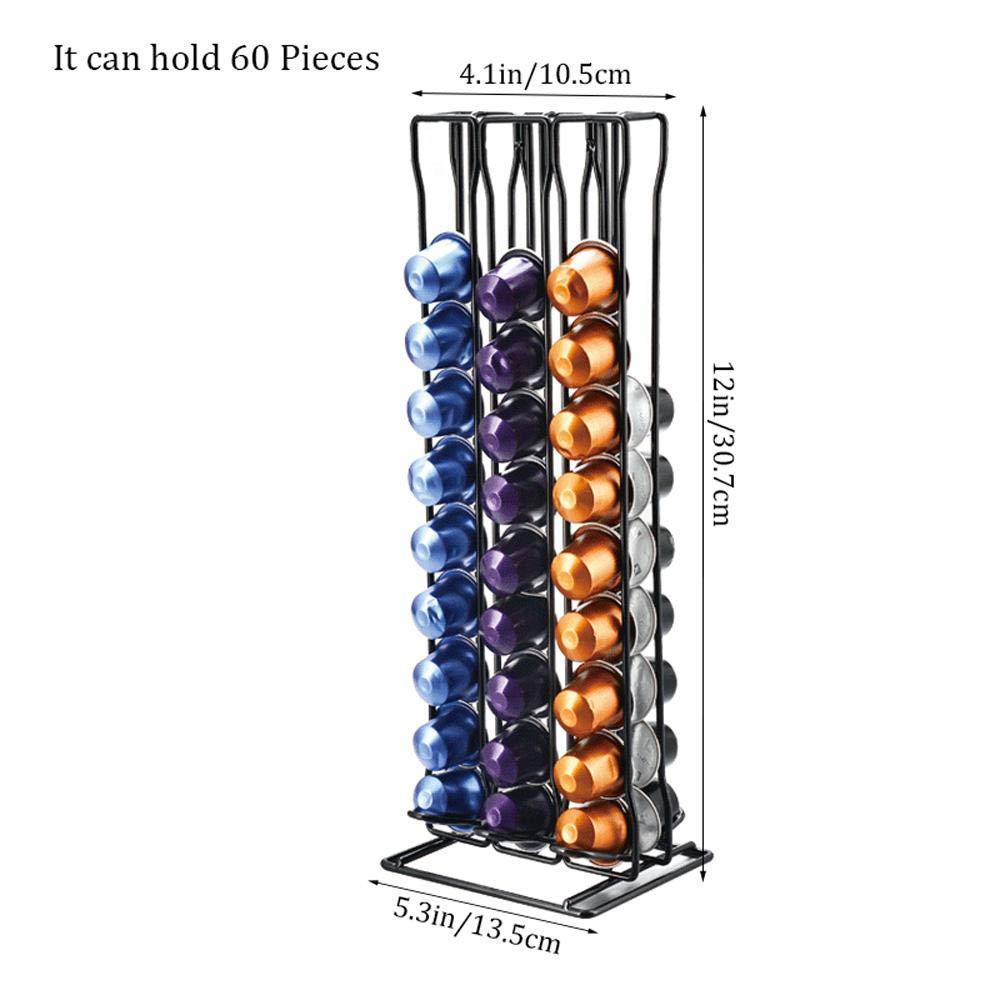Organizador para c/ápsulas de c/ápsulas con Capacidad para 60 c/ápsulas Originales Volwco Soporte para c/ápsulas de caf/é para c/ápsulas Nespresso Solamente Amantes del caf/é