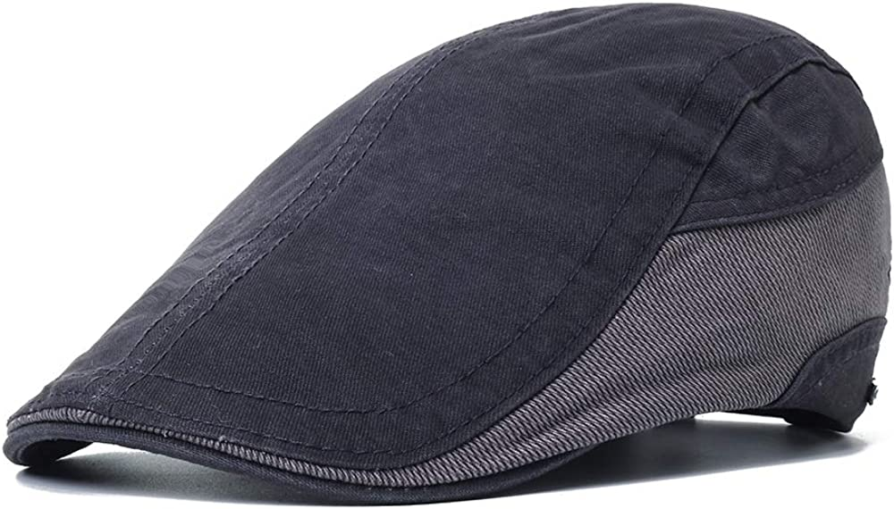 ACHKL Mens Outdoor Summer Patchwork Breathable Beret Hat Solid Newsboy Cabbie Flat Caps Visor ACHKL Color : Color Grey, Size : One size