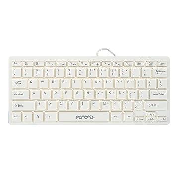 Teclado con cable tamaño pequeño teclado delgado de escritorio o portátil para ordenadores portátiles PC Win