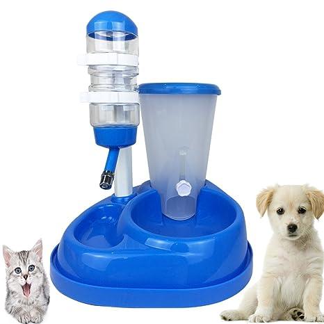 Dr Nezix 2 en 1 Comedero y Bebederos de Animales Automático Alimentador Platos para Perros y