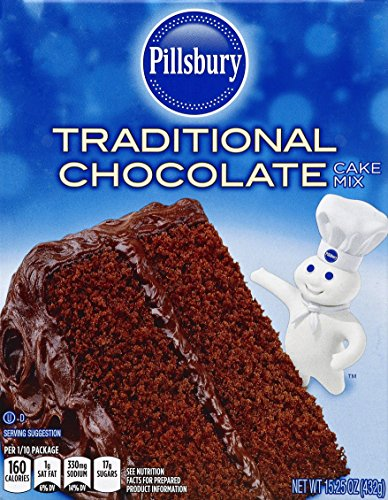 Pillsbury Traditional Cake Mix Chocolate 1525 Ounce