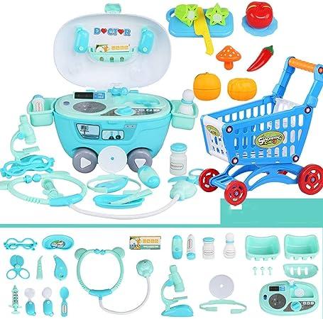 Xiaogang Kit médico para niños con muñeca Juguete Playset 24pcs Herramientas médicas con un Estuche de Regalo Resistente para niños niñas niños pequeños: Amazon.es: Hogar